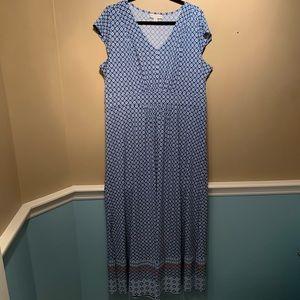 Dana Buchman Short Sleeve Maxi Dress